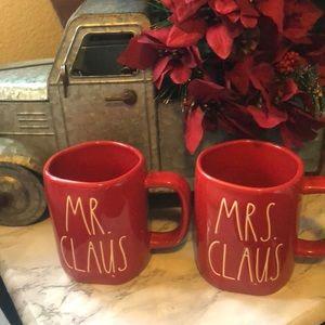 Rae Dunn Red  MR. and Mrs. Claus Christmas Mug